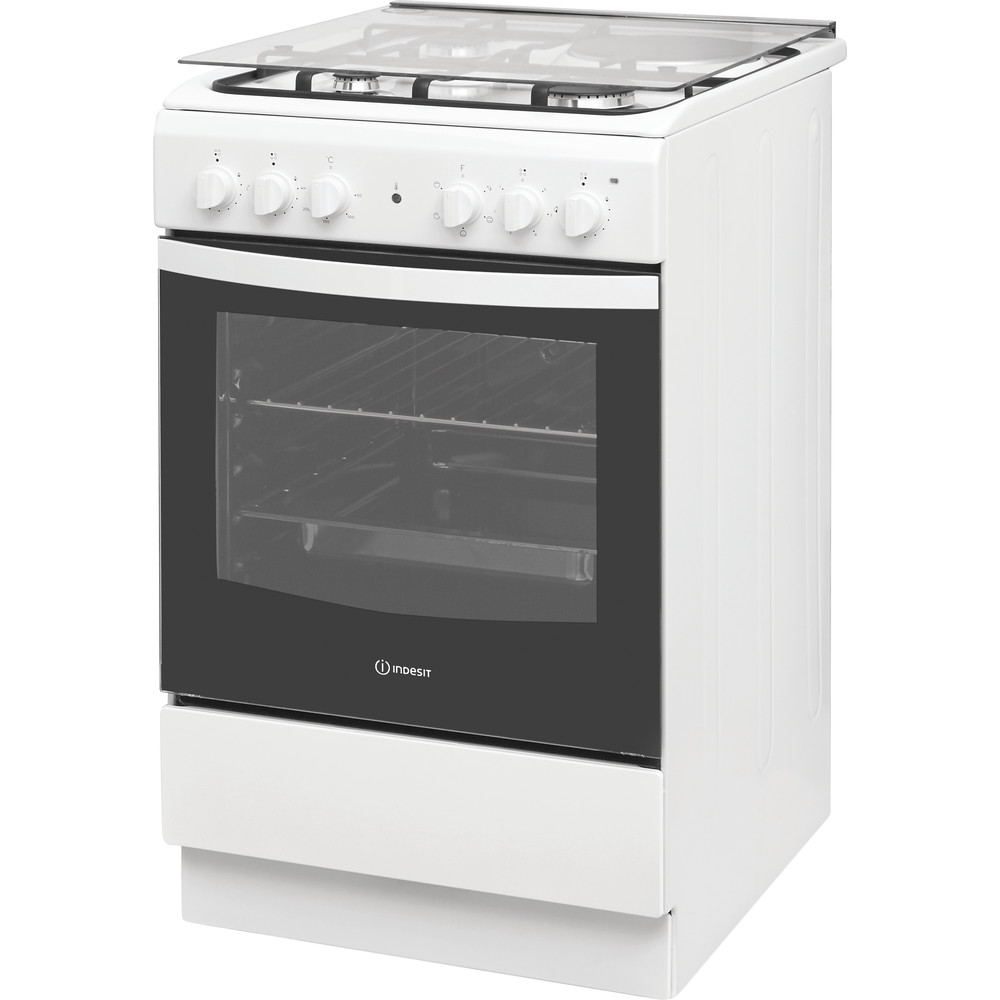 Indesit Готварска печка IS5M4KCW/E Бял Смесени Perspective