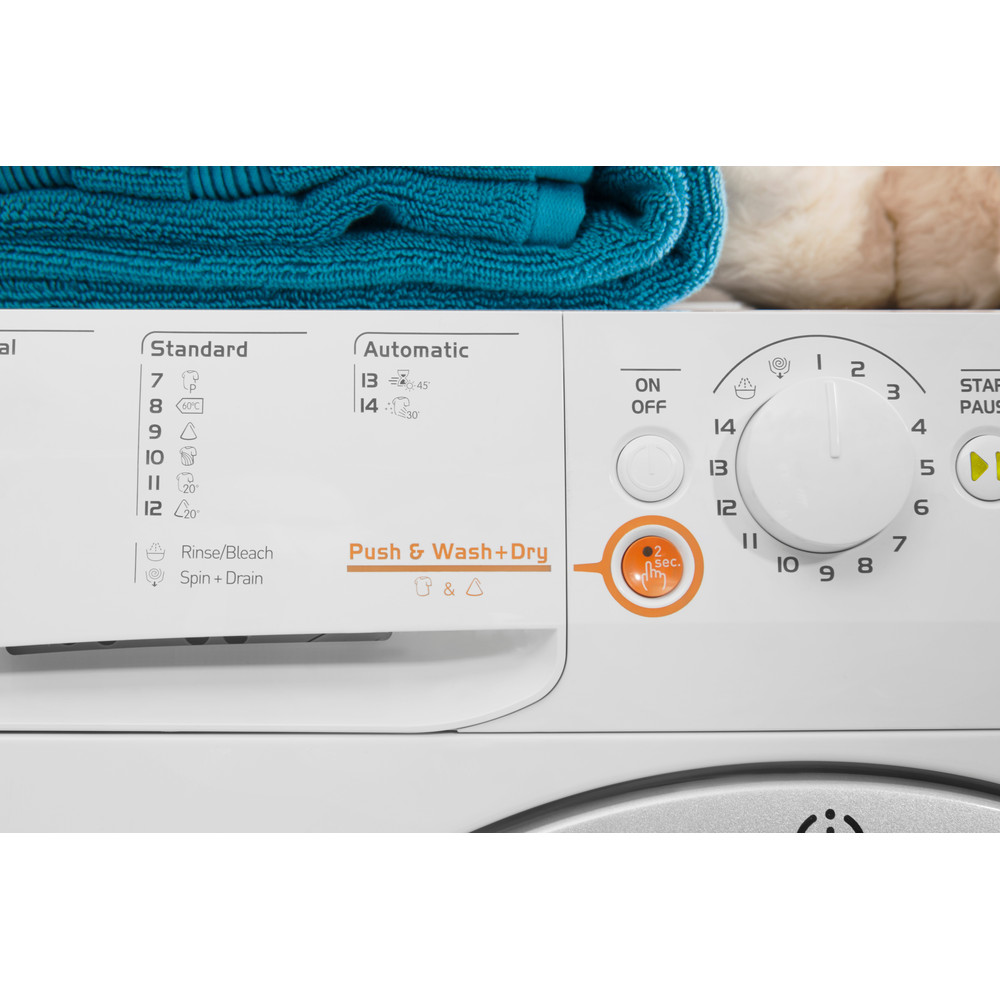 Indesit Pračka se sušičkou Volně stojící XWDA 751480X WSSS EU Bílá Front loader Lifestyle control panel