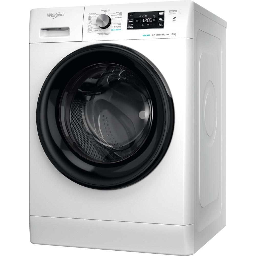 Whirlpool vrijstaande wasmachine: 8 kg - FFBBE 8638 BEV F