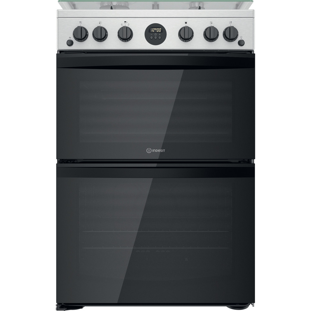 Indesit Double Cooker ID67G0MCX/UK Inox A+ Frontal