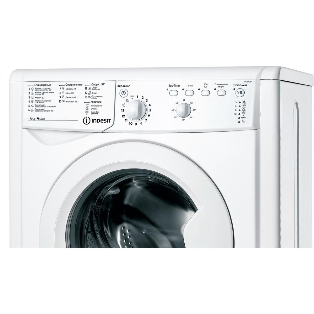 Indesit Стиральная машина Отдельностоящий IWUB 4085 (CIS) Белый Фронтальная загрузка A Control panel