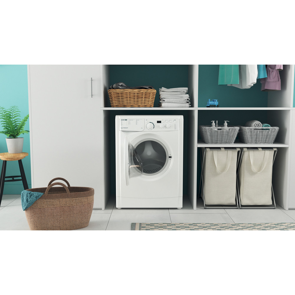Indesit Waschmaschine Freistehend EWD 61051E W EU N Weiß Frontlader F Lifestyle frontal open
