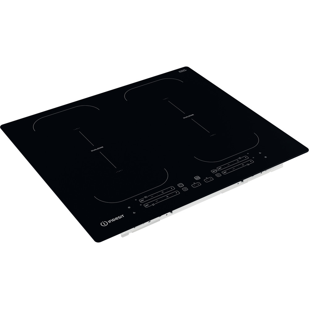 Indesit HOB IB 88B60 NE Black Induction vitroceramic Perspective