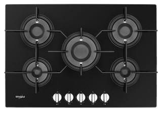 Gazinière Whirlpool: gaz 5 feux - POW 75D2/NB