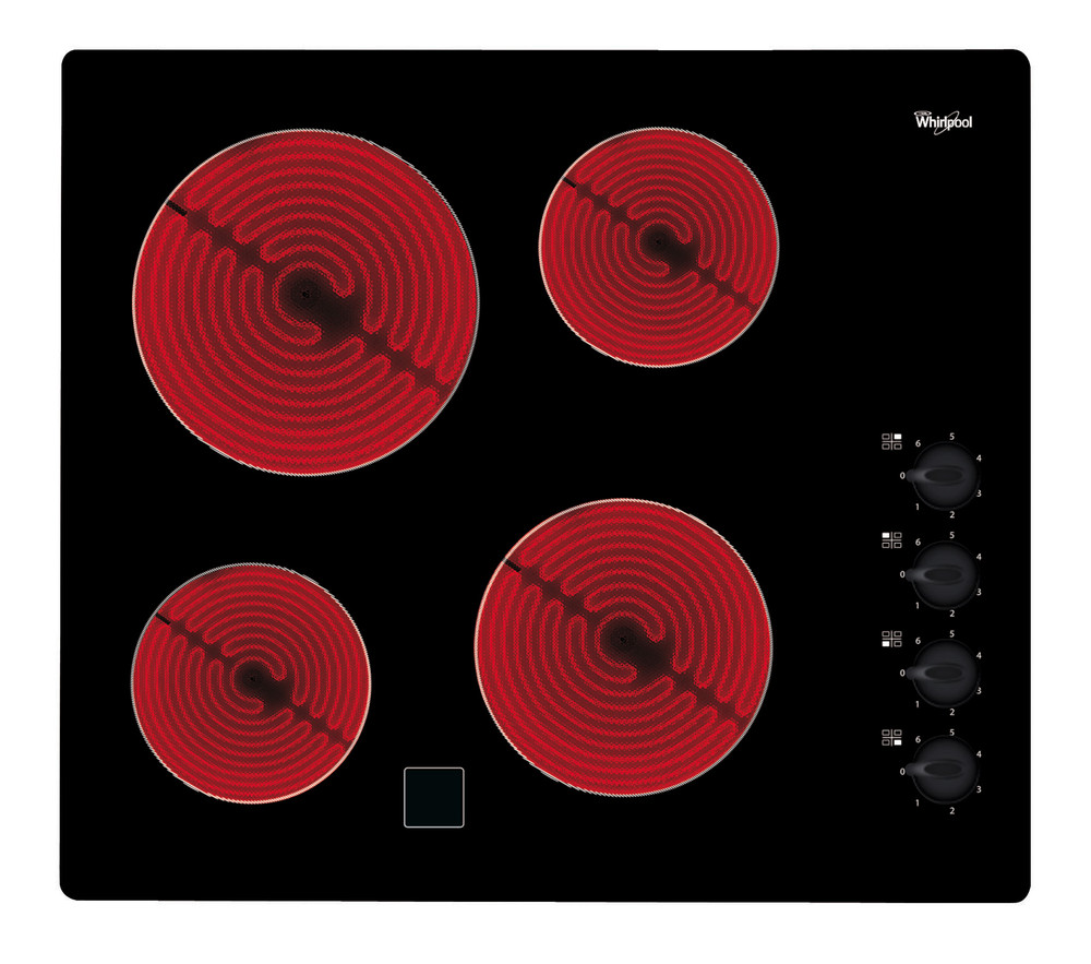 Whirlpool Hob AKM 9010/NE Black Radiant vitroceramic Frontal