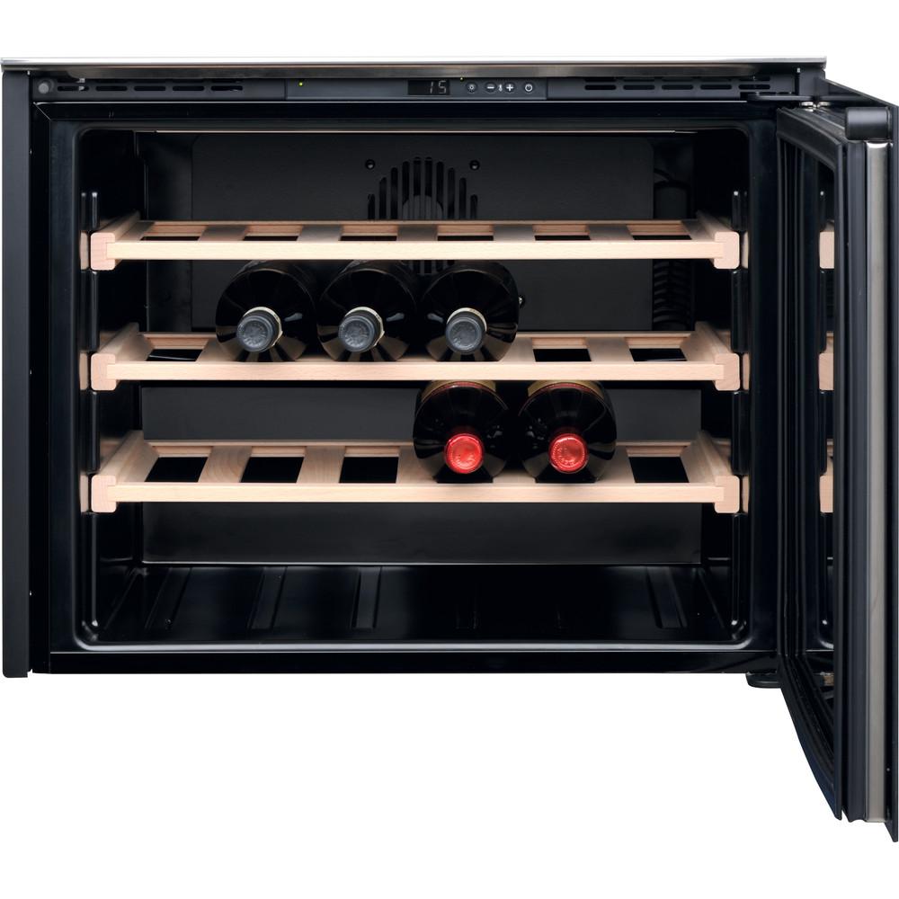 Hotpoint_Ariston Armazenamento de vinho Encastre HA WC512 Inox Frontal open