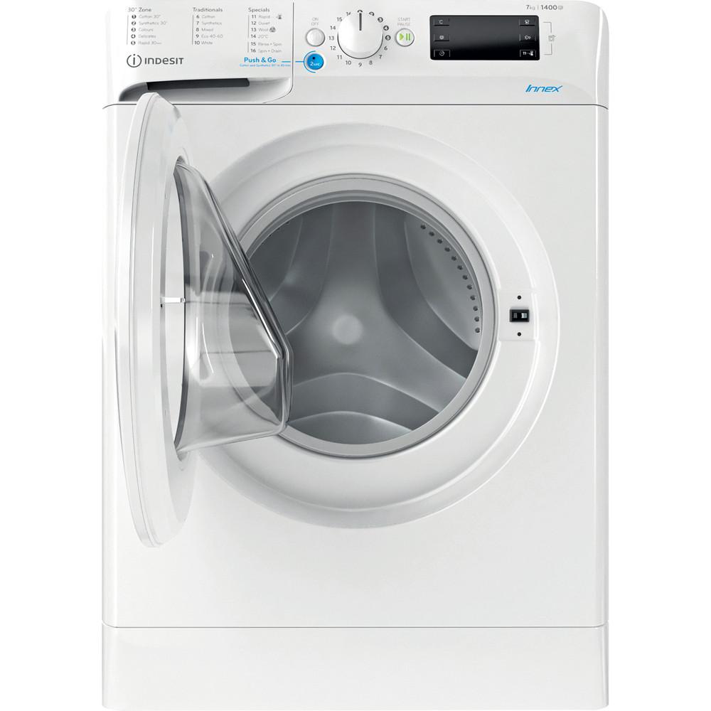 Indesit Washing machine Free-standing BWE 71452 W UK N White Front loader E Frontal open