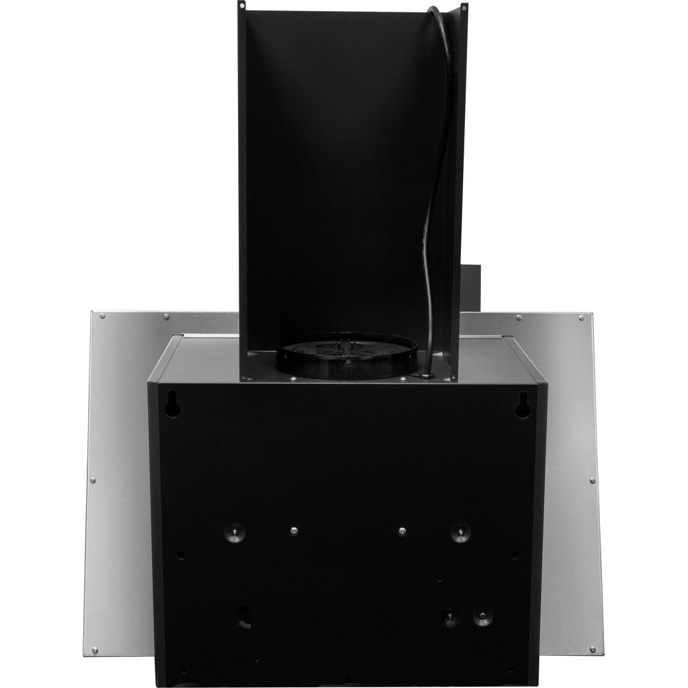Indesit Hotte Encastrable IHVP 6.4 LL K Noir Mural Electronique Back / Lateral