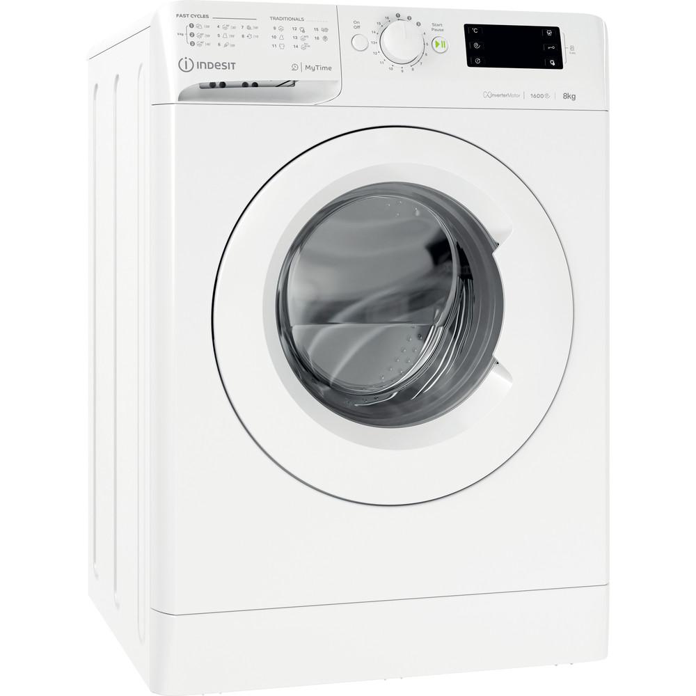 Indesit Wasmachine Vrijstaand MTWE 81683 W EU Wit Voorlader D Perspective