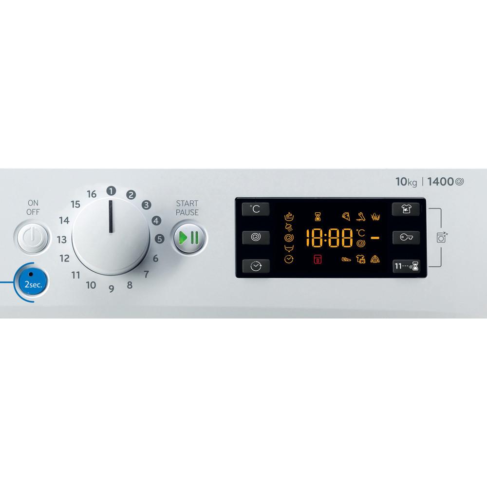 Indesit Máquina de lavar roupa Livre Instalação BWE 101483X WS SPT N Branco Carga Frontal D Control panel