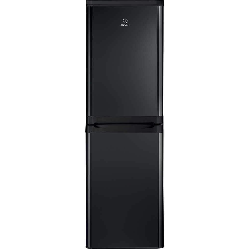 Indesit Fridge-Freezer Combination Free-standing IBD 5515 B 1 Black 2 doors Frontal