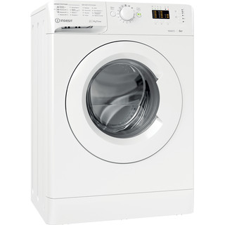 Indesit Пральна машина Соло OMTWSA 61052 W UA Білий Front loader A++ Perspective