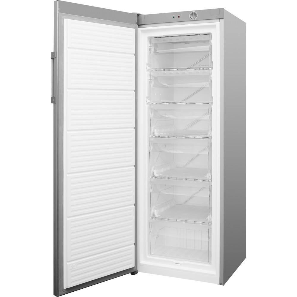 Indsit Congelator Independent UI6 1 S.1 Silver Perspective open