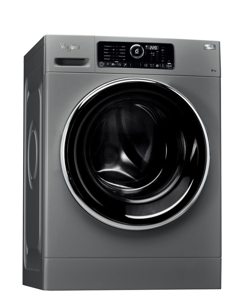 Whirlpool Washing machine Free-standing FSCR 90426 Silver Front loader A+++ Perspective