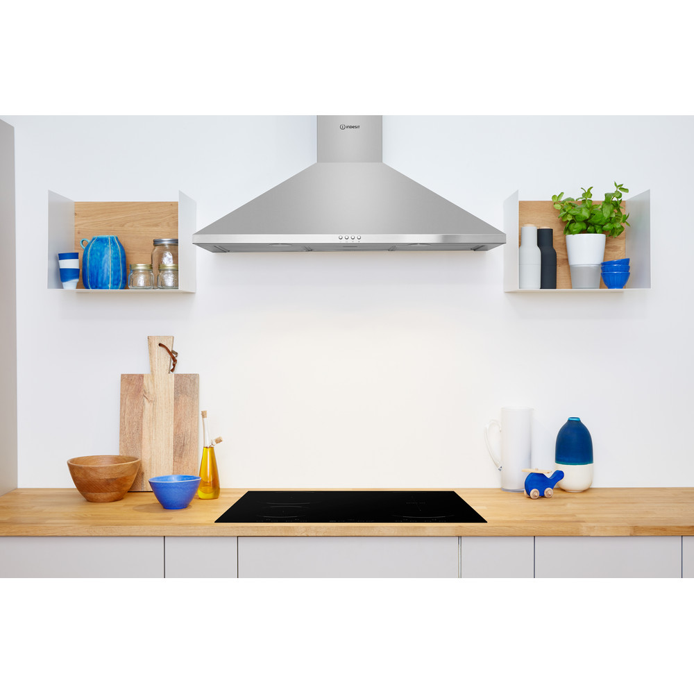 Indesit HOOD Built-in IHPC 9.5 LM X Inox Wall-mounted Mechanical Lifestyle frontal