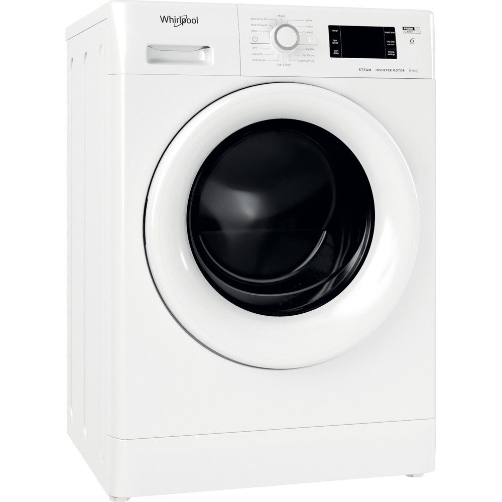 Whirlpool FWDG86148W UK N Washer Dryer 8+6kg 1400rpm - White