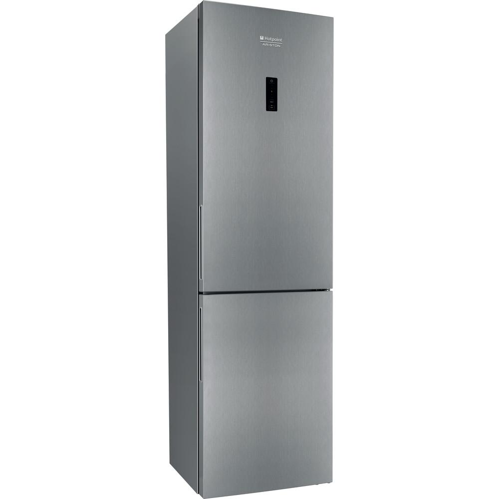 Hotpoint_Ariston Комбинированные холодильники Отдельностоящий HF 5201 X R Нержавеющая сталь 2 doors Perspective