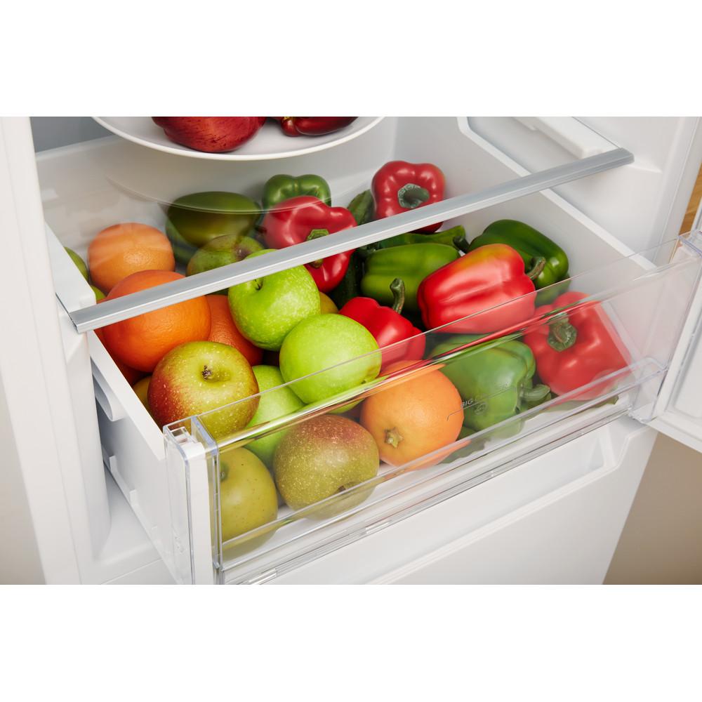 Indesit Комбиниран хладилник с камера Свободностоящи LI8 S1 W Бял 2 врати Drawer