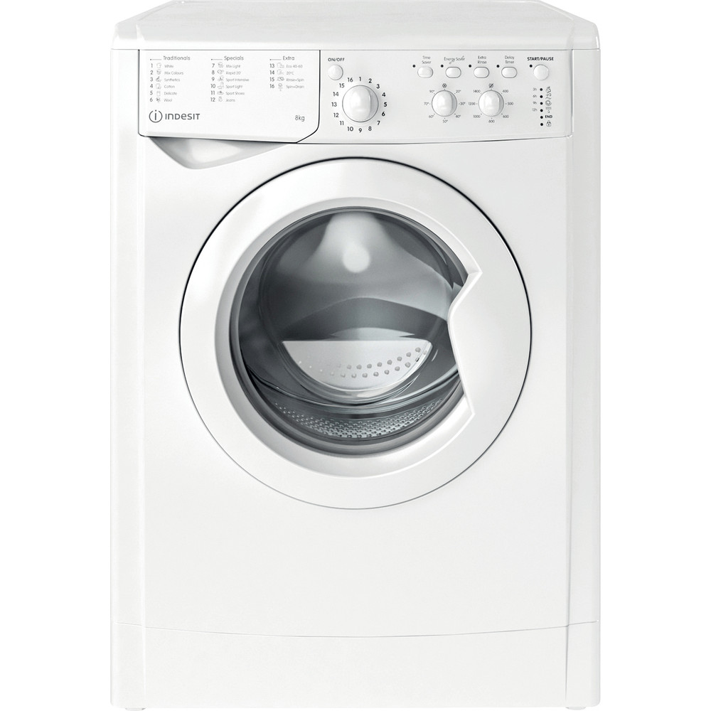 Indesit Washing machine Free-standing IWC 81483 W UK N White Front loader D Frontal