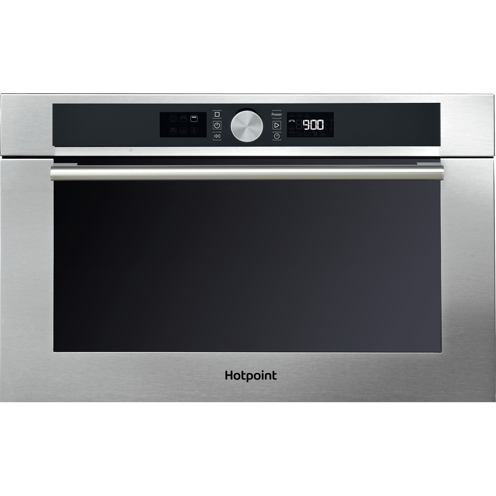 Hotpoint Microwave Built-in MD 454 IX H Inox Electronic 31 MW+Grill function 1000 Frontal