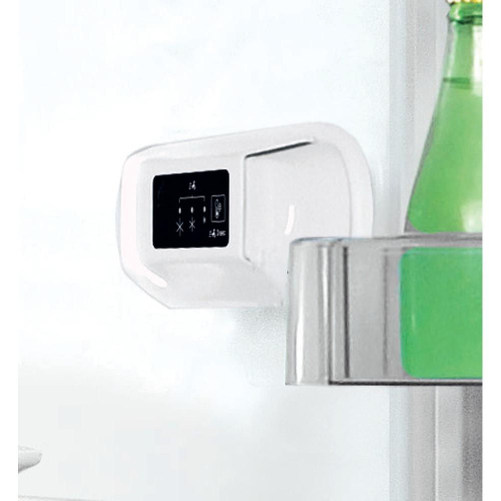 Indesit Kombinerat kylskåp/frys Fristående LI8 S1E S Silver 2 doors Control panel