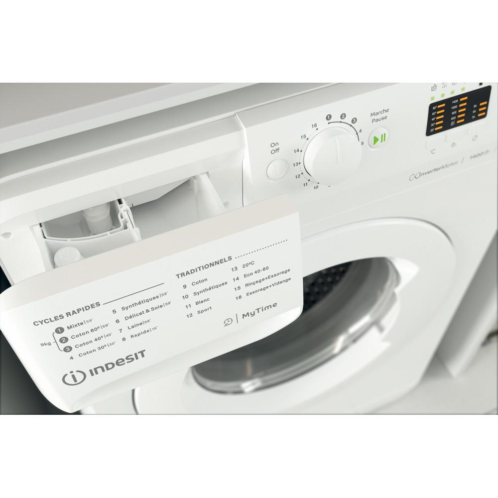Indesit Lave-linge Pose-libre MTWA 91483 W FR Blanc Lave-linge frontal D Drawer