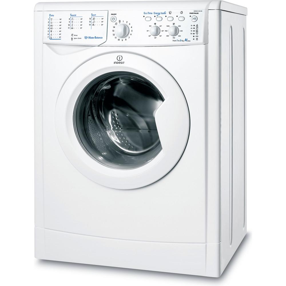 Indesit Pračka Volně stojící IWSNC 51051X9 EU Bílá Front loader A+ Perspective