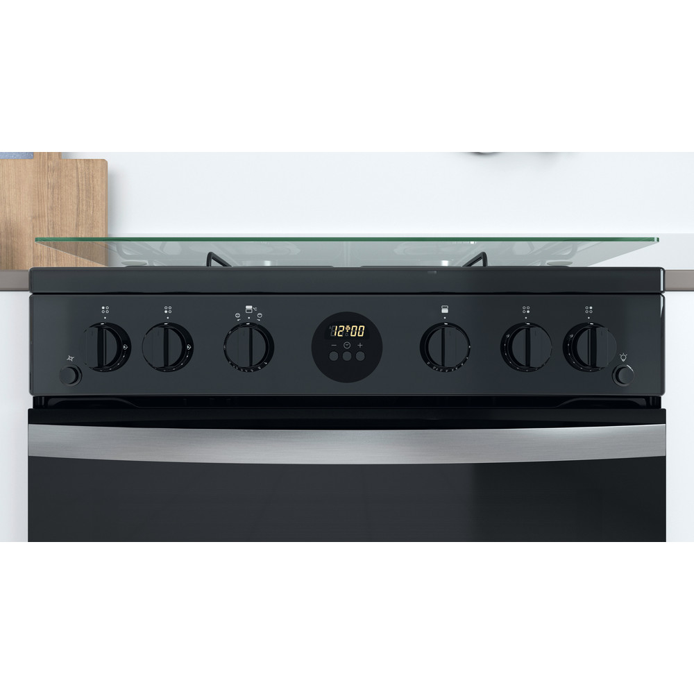 Indesit Double Cooker ID67G0MCB/UK Black A+ Lifestyle control panel
