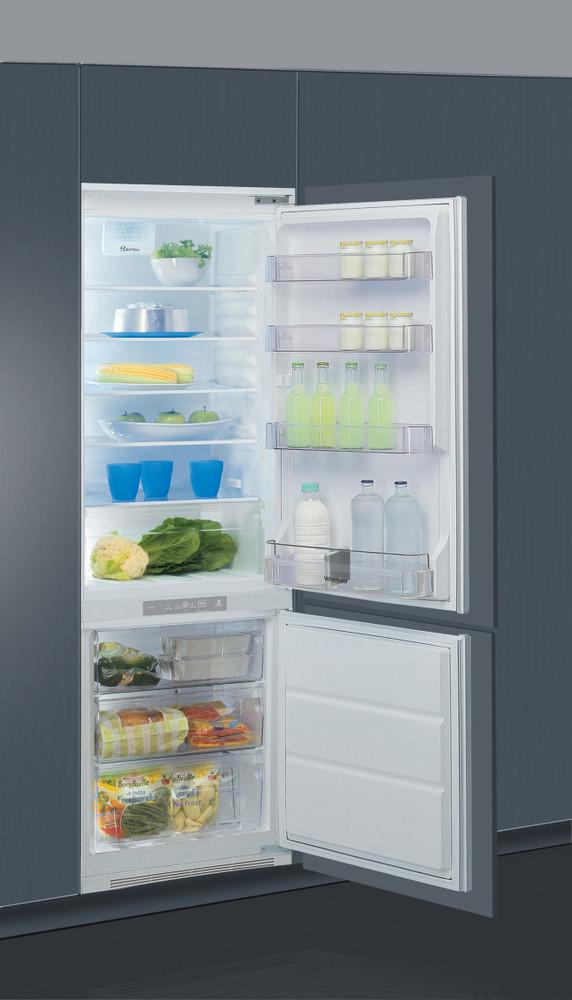 Whirlpool Fridge/freezer combination Vgradni ART 459/A+/NF/1 Bela 2 doors Perspective open
