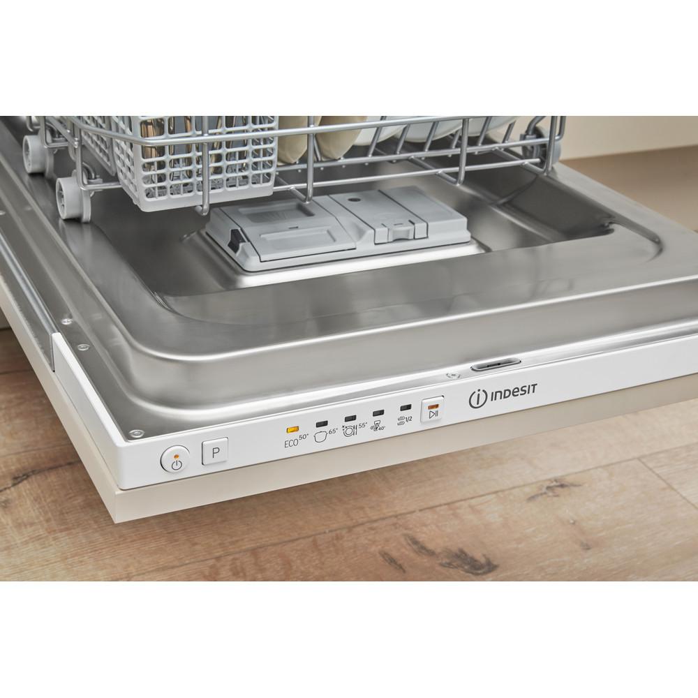 Indesit Mašina za pranje posuđa ugradbeni DSIE 2B10 A scomparsa totale A+ Lifestyle control panel