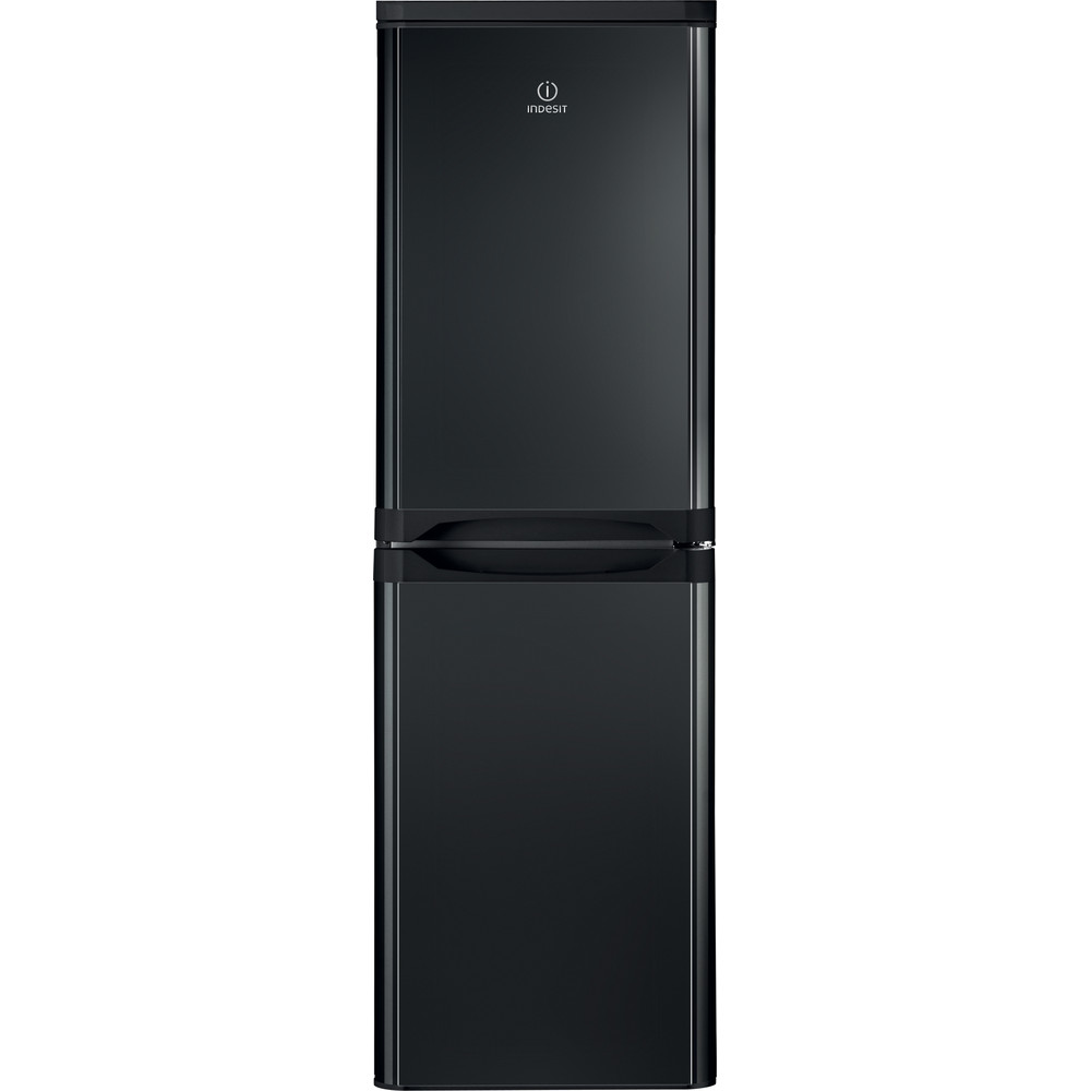 Indesit Fridge-Freezer Combination Free-standing IBD 5517 B UK 1 Black 2 doors Frontal