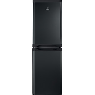 Indesit Fridge Freezer Free-standing IBD 5517 B UK 1 Black 2 doors Frontal