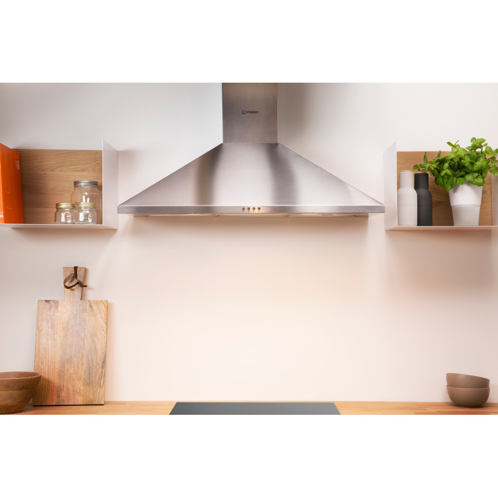 Indesit HOOD Built-in IHPC 9.4 AM X Inox Wall-mounted Mechanical Lifestyle frontal