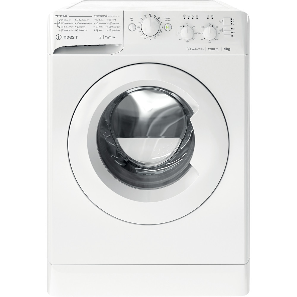 Indesit Washing machine Free-standing MTWC 91283 W UK White Front loader A+++ Frontal