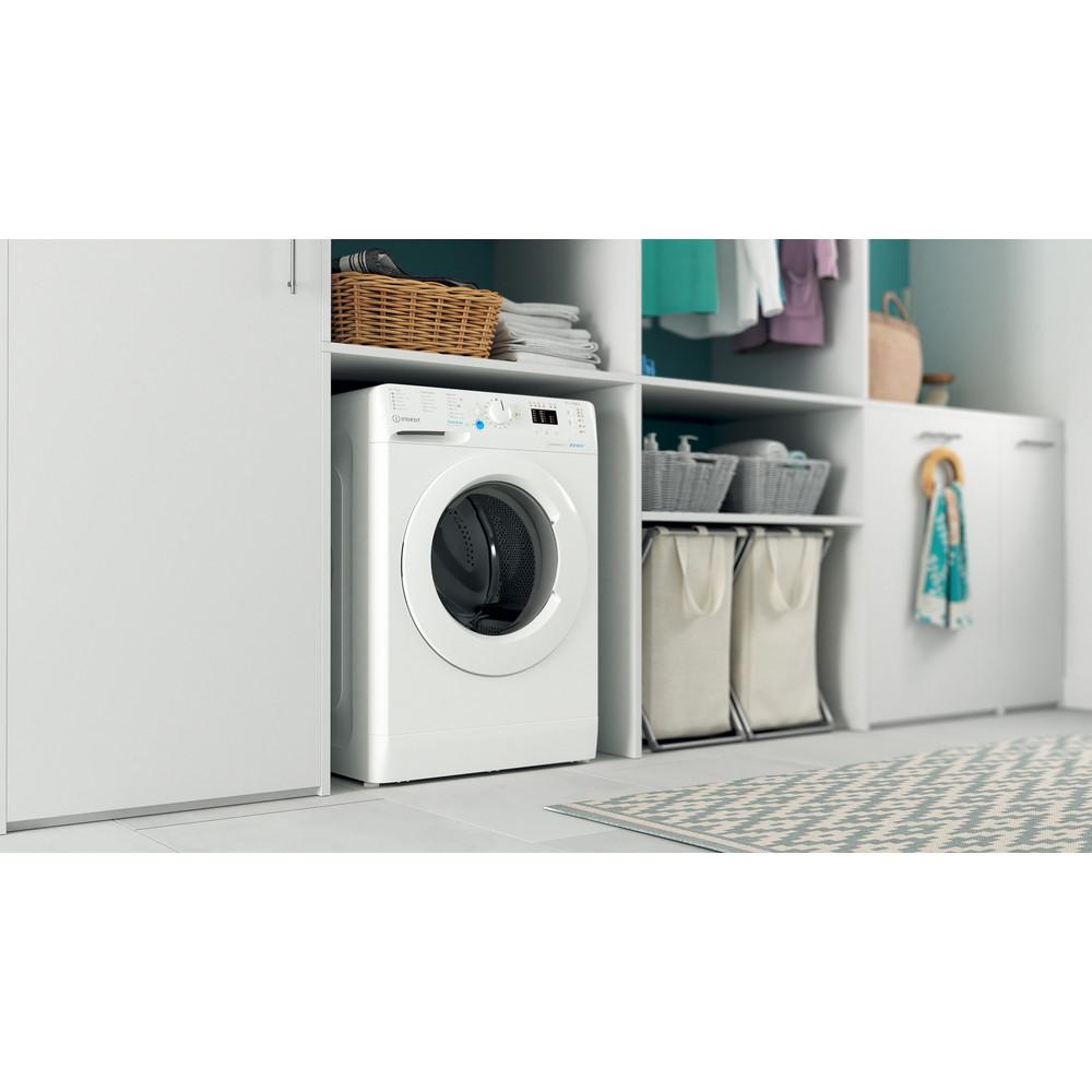 Indesit Washing machine Free-standing BWA 81484X W UK N White Front loader C Lifestyle perspective