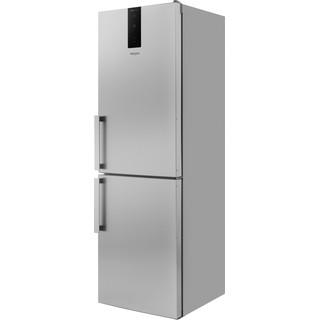 Whirlpool Fridge-Freezer Combination Free-standing W7 811O OX H 1 Optic Inox 2 doors Perspective