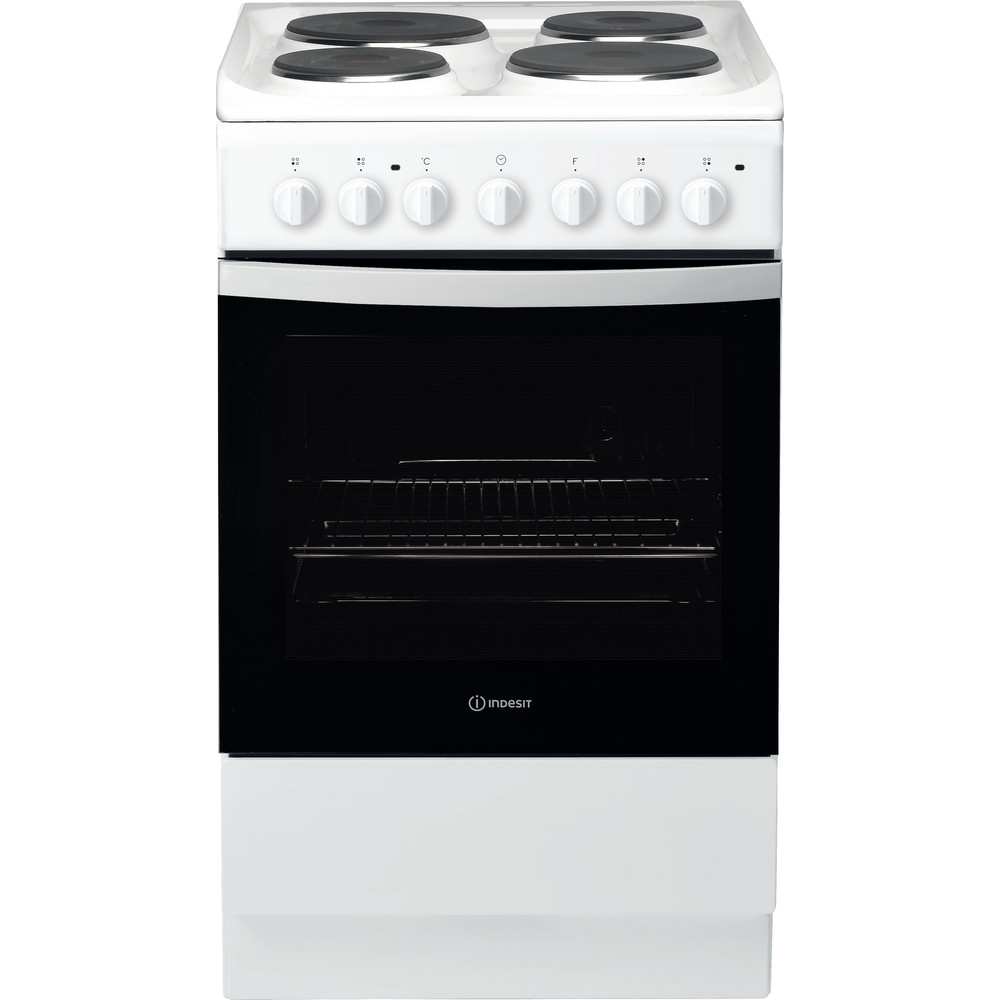 Indesit Cooker IS5E4KHW/UK White Electrical Frontal