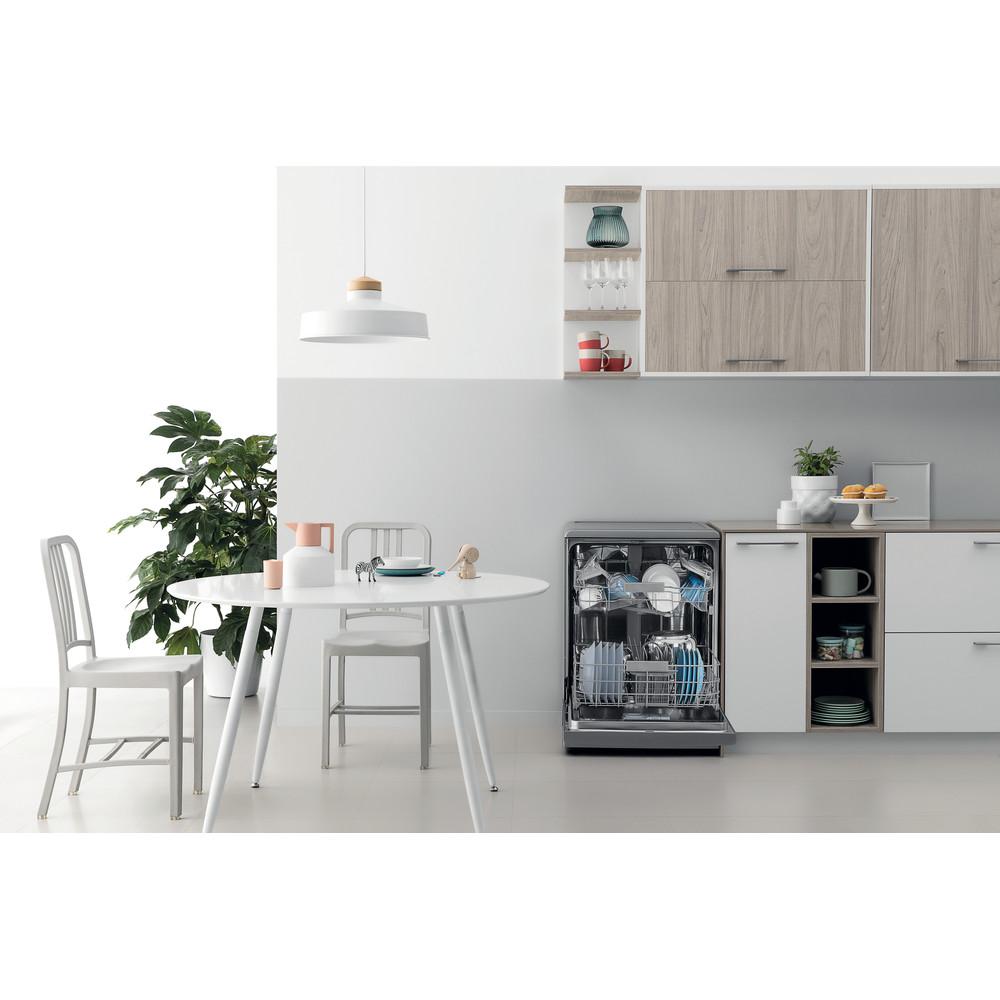 Indesit Lave-vaisselle Pose-libre DFC 2C24 A X Pose-libre E Lifestyle frontal open