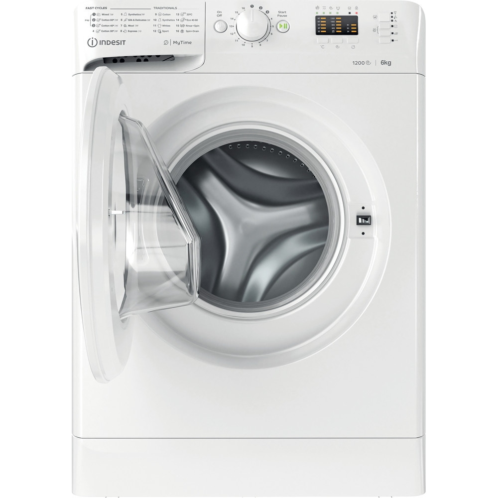 Indsit Maşină de spălat rufe Independent MTWSA 61252 W EE Alb Încărcare frontală F Frontal open