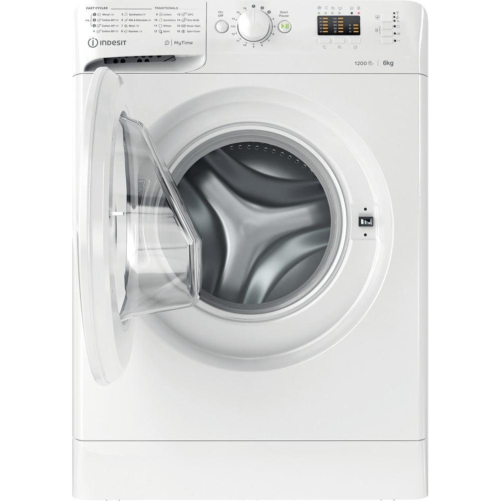 Indesit Wasmachine Vrijstaand MTWSA 61252 W EE Wit Voorlader F Frontal open