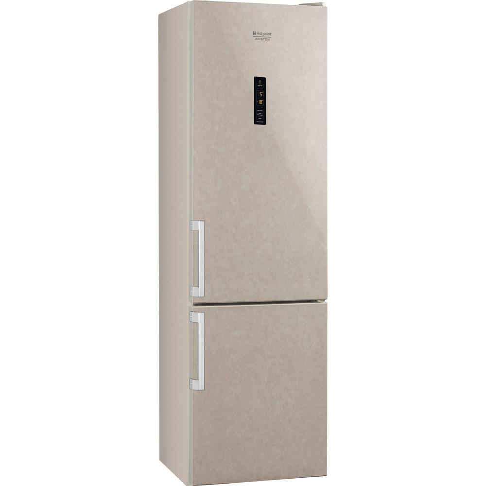 Hotpoint_Ariston Комбинированные холодильники Отдельностоящий HFP 7200 MO Мраморный 2 doors Perspective