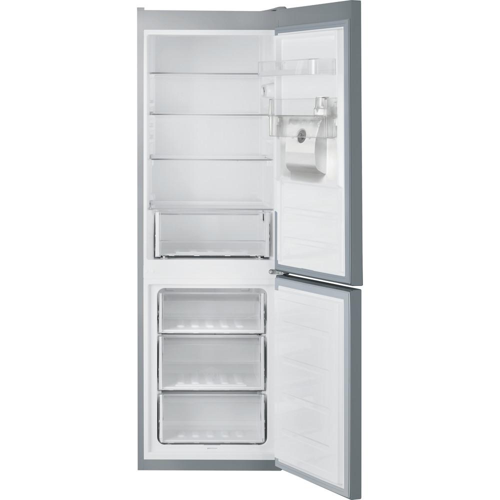 Indesit Fridge Freezer Free-standing LR8 S1 S AQ UK.1 Silver 2 doors Frontal open