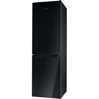 Indesit Hűtő/fagyasztó kombináció Szabadonálló LI8 S2E K Fekete 2 doors Perspective