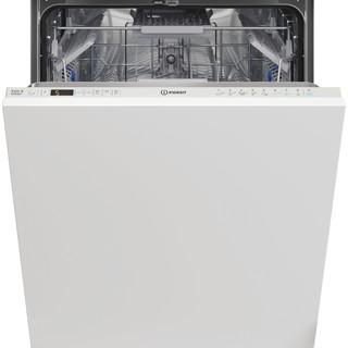 Εντοιχιζόμενο πλυντήριο πιάτων Indesit: πλήρες μέγεθος, λευκό χρώμα