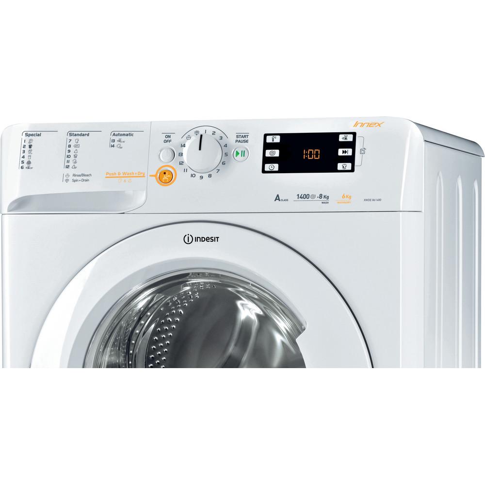Indesit Стиральная машина с сушкой Отдельностоящий XWDE 861480X W EU Белый Фронтальная загрузка Control panel