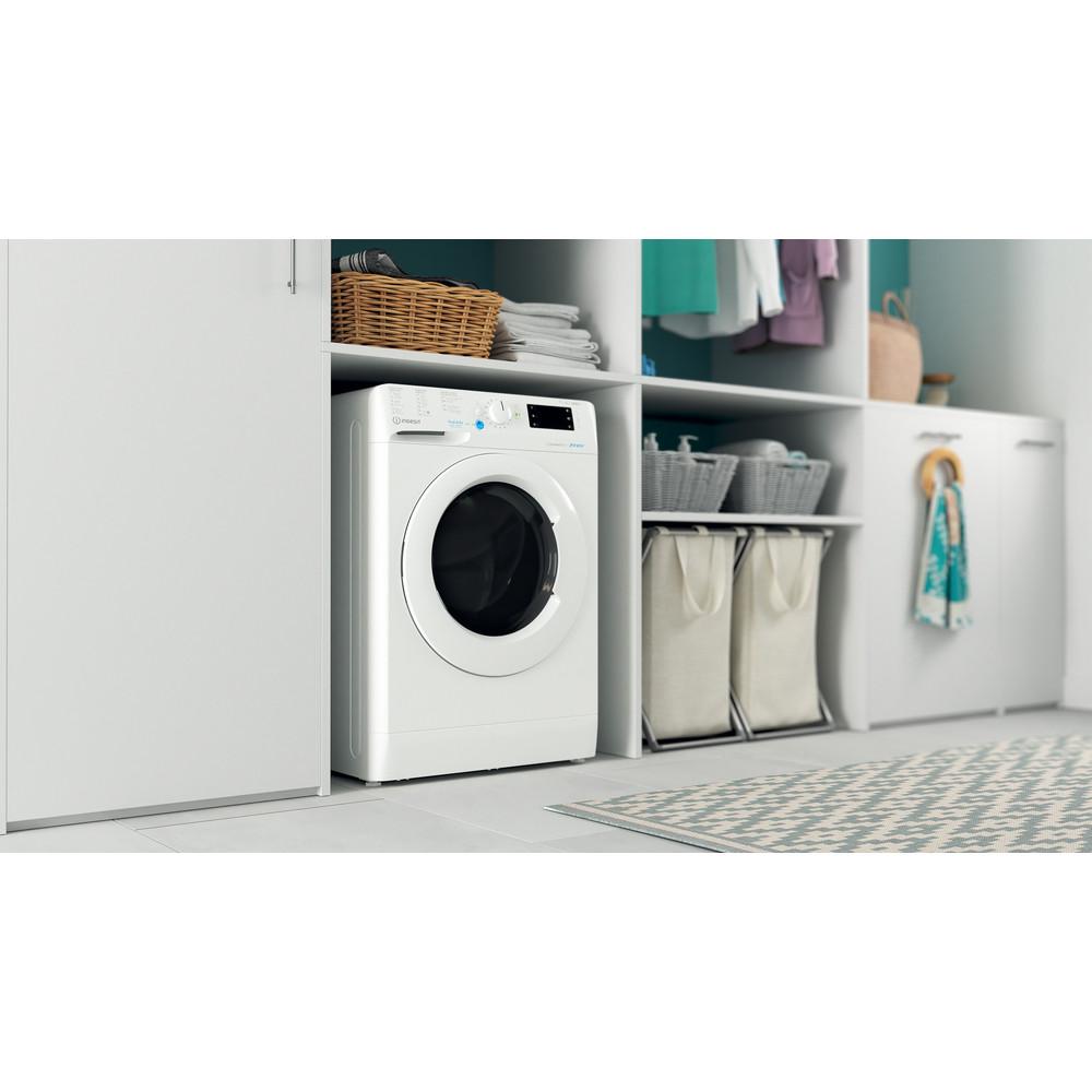 Indesit Lavadora secadora Libre instalación BDE 761483X W SPT N Blanco Cargador frontal Lifestyle perspective