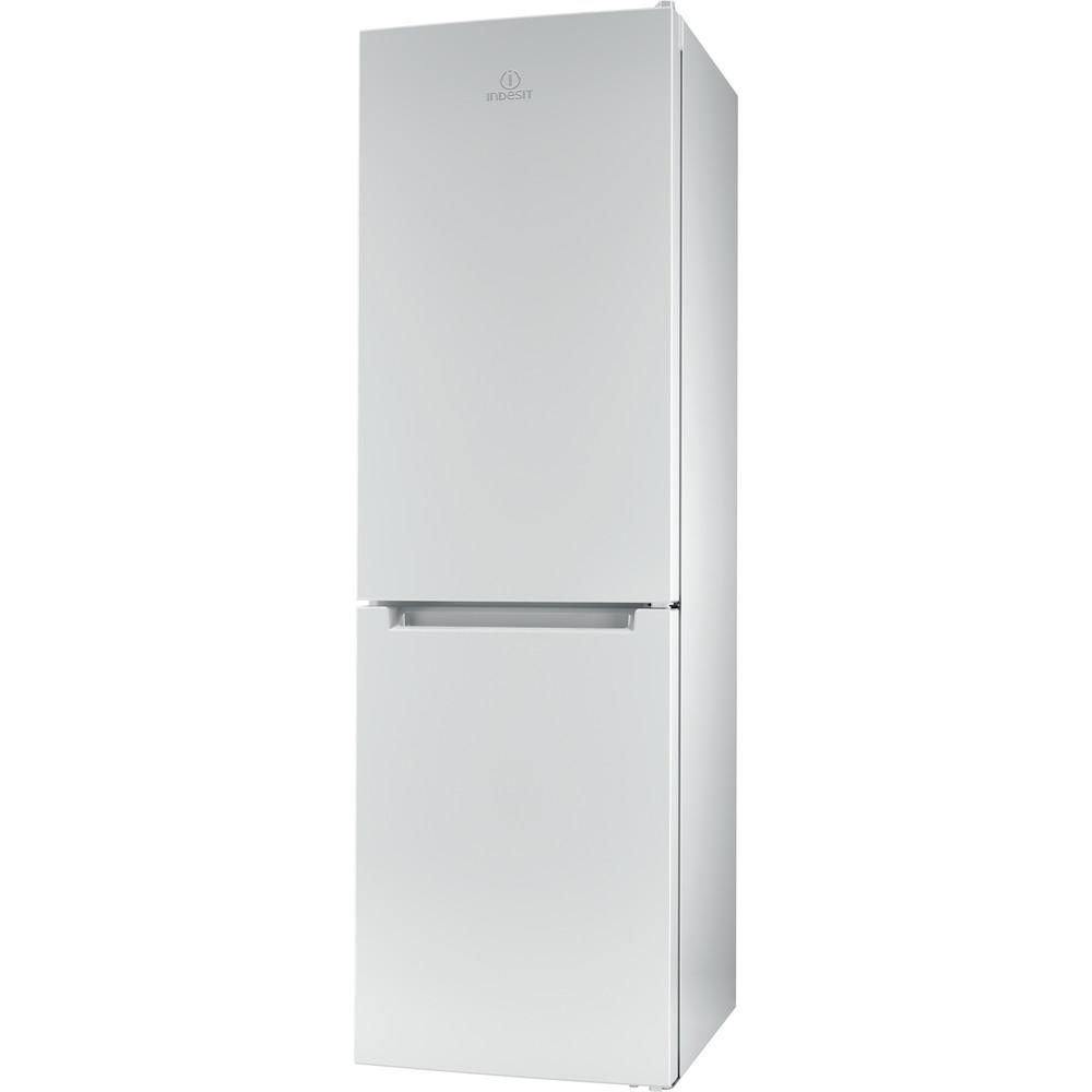Indesit Réfrigérateur combiné Pose-libre LR8 S2 W B Blanc 2 portes Perspective