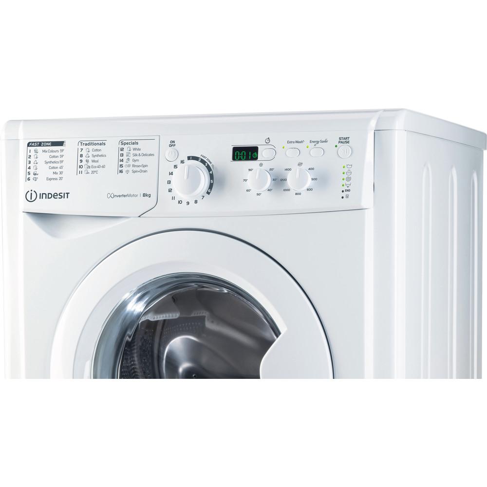 Indesit Washing machine Free-standing EWD 81483 W UK N White Front loader D Control panel
