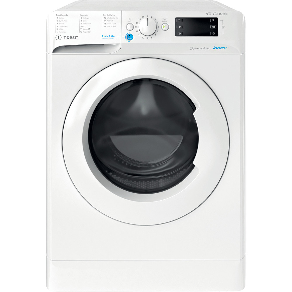 Indesit Washer dryer Free-standing BDE 1071682X W UK N White Front loader Frontal