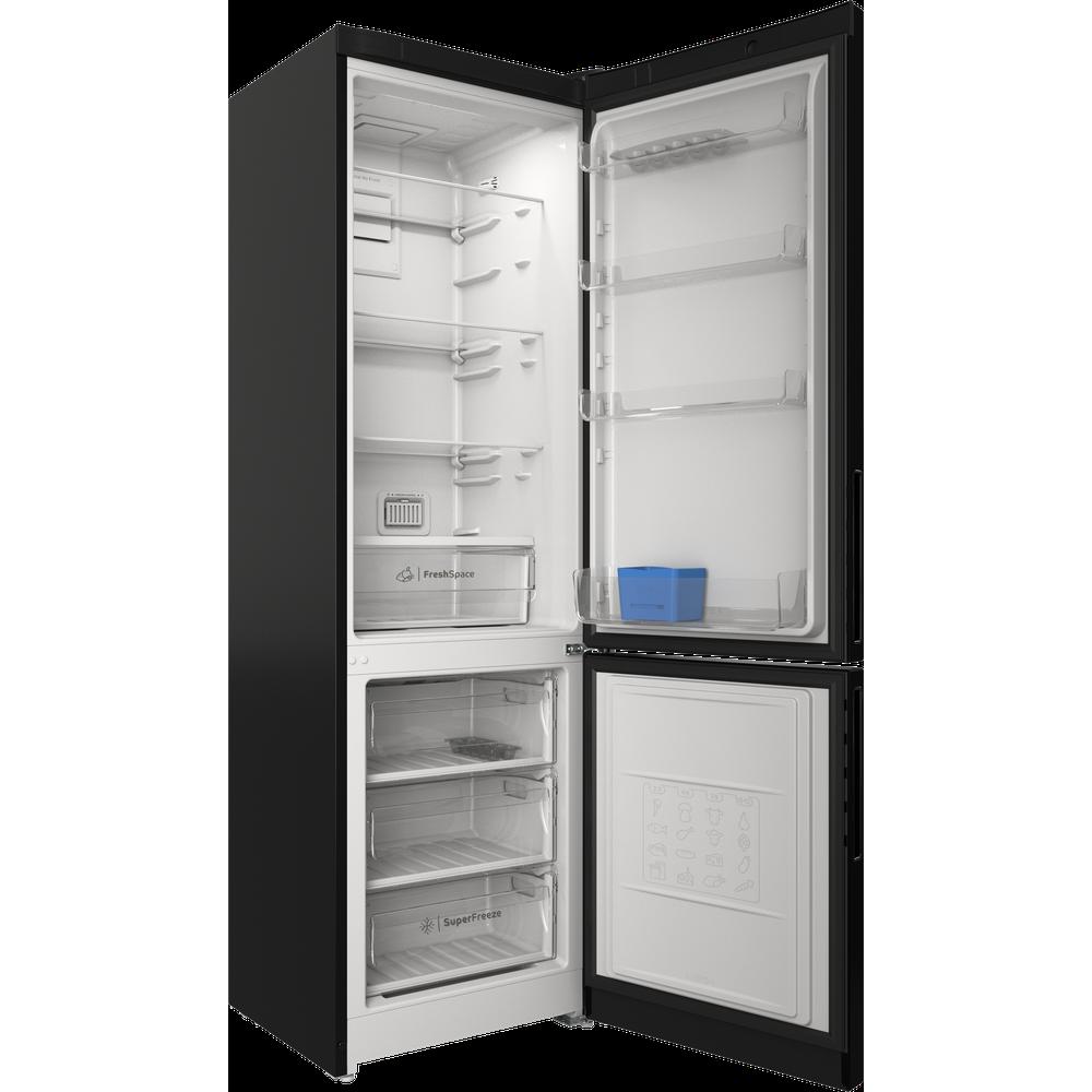 Indesit Холодильник с морозильной камерой Отдельностоящий ITR 5200 B Черный 2 doors Perspective open